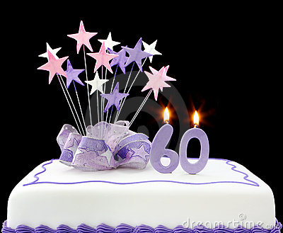 60th Cake Stock Photography Image 8087032