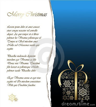 Abstract Christmas Card With Sample Text Royalty Free