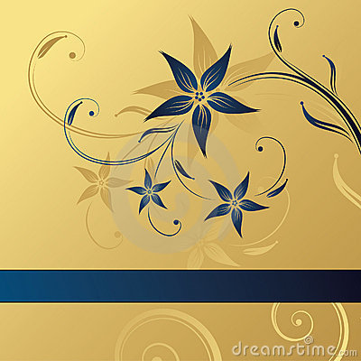 3d Wallpaper Free Download Girl Abstract Gold Blue Floral Background Stock Image Image