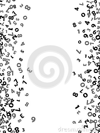 Abstract Math Number Background. Vector Illustration Stock