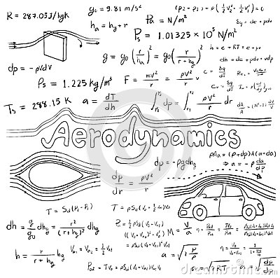 Aerodynamics Law Theory And Physics Mathematical Formula