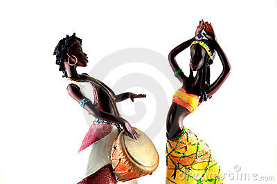 African Figures Dancing Royalty Free Stock Images Image
