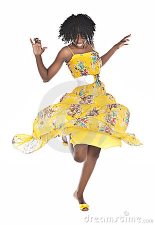 African Woman Dancing Royalty Free Stock Photos  Image 13067548
