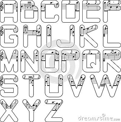 Alphabet Music Royalty Free Stock Photography  Image