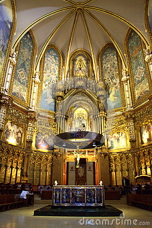 The Altar In Montserrat Church Editorial Photography  Image 53568527