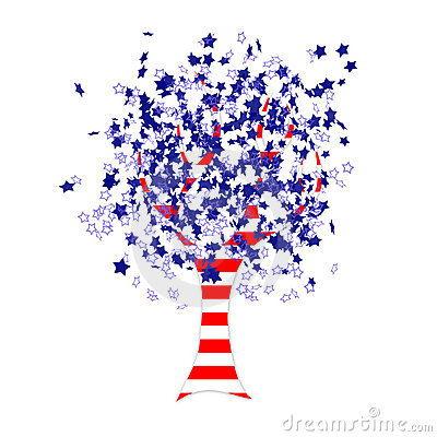 American Flag Tree Royalty Free Stock Photo Image 19752905