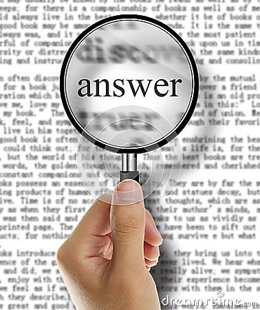 Answer Stock Photo Image 44969003