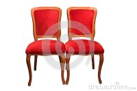 Antique Theater Chairs Stock Photo