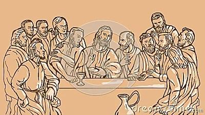 Apóstolo do Jesus Cristo da última ceia
