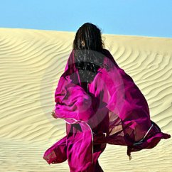 Living Room Pictures Clipart French Provincial Arabic Brunette Woman Walking Through The Desert Royalty ...