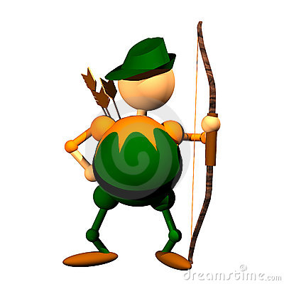 Archer Clipart Stock Image Image 9419561