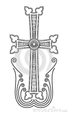 Armenian Apostolic Church Cross Clip Art Stock Vector