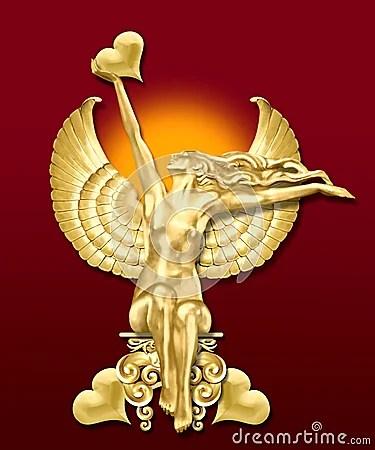 Art Deco Angel Whearts Stock Image Image 2097211
