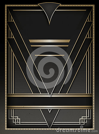 Art Deco Background And Frame Stock Photography  Image