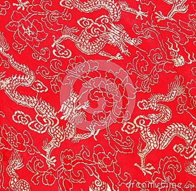 Asian Dragon Pattern Stock Image