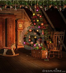 attic decorations christmas royalty