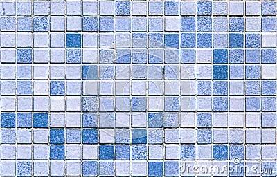 Azulejo de mosaico azul inconstil