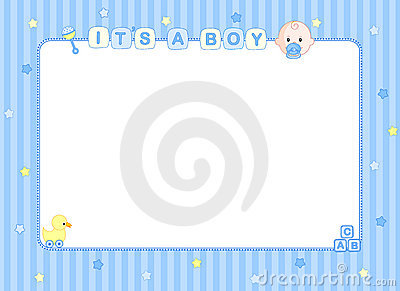 Cute Newborn Baby Girl Wallpaper Baby Boy Arrival Card Border Royalty Free Stock Images