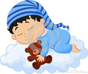 cartoon sleeping baby cloud illustration vector bebe