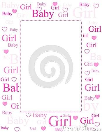 baby girl borders