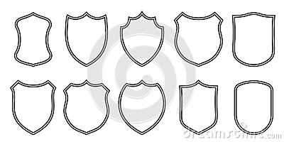 Badge Patches Vector Outline Templates. Sport Club