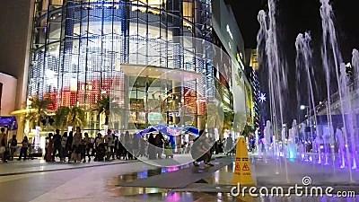 Bangkok Thailand December 12 2018 Night Light At Siam Paragon Shopping Mall Near Siam Sky Train Station In Bangkok Thailand Hotel People