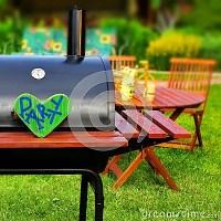 BBQ Summer Backyard Party Scene Stock Photo - Image: 42497320