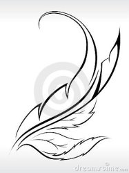 outline leaf abstract