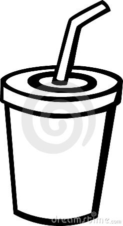 Beverage With Drinking Straw Vector Illustration Royalty