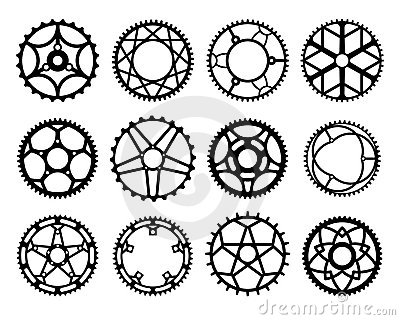 Bicycle gears and chain stock vector. Image of sprocket