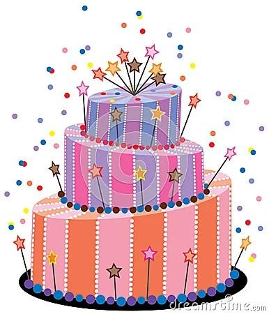 Big Birthday Cake Royalty Free Stock Photography Image