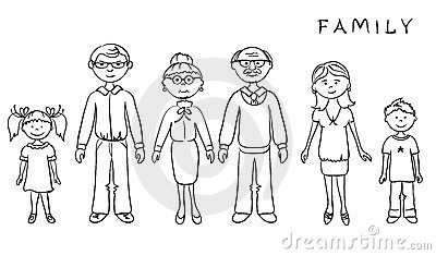 A 4 generation family tree is a competent tool for building a family tree by age group. Big Family Royalty Free Stock Photo - Image: 20965995