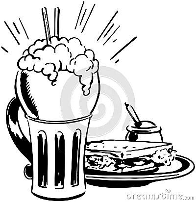 Milkshakes Cartoons, Milkshakes Pictures, Illustrations