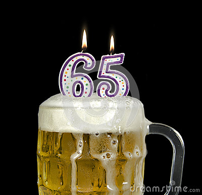 Birthday Beer For 65th Birthday Stock Photo Image 54092746