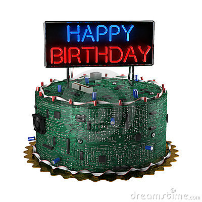 Birthday Cake For Geeks Royalty Free Stock Image Image