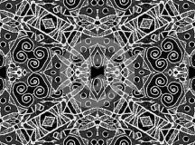 Black And White Geometric Tribal Pattern Stock ...