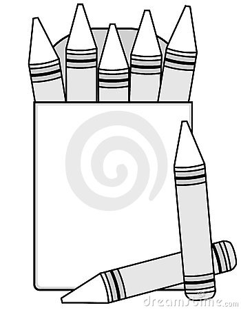 Blank Crayons And Crayon Box Royalty Free Stock Photos