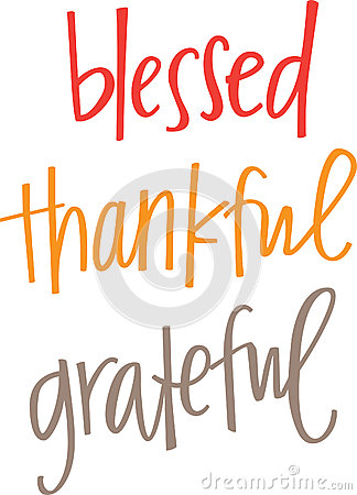 blessed thankful grateful stock