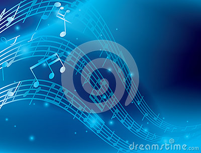 Water Animation Wallpaper Blue Abstract Background With Music Notes Eps Stock