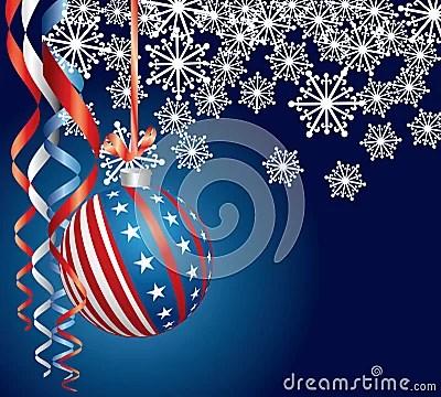 Blue Patriotic Christmas Royalty Free Stock Photos Image