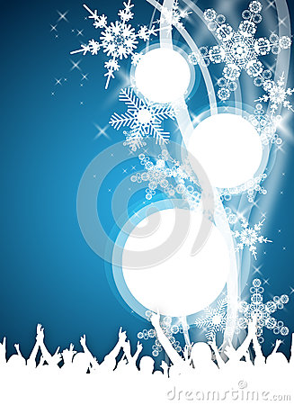 Blue Winter Party Flyer Royalty Free Stock Photos Image
