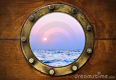 wooden bench for kitchen table types of countertops boat porthole royalty free stock photos - image: 20254898