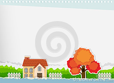 Border Design With A House Stock Illustration Image 60923973