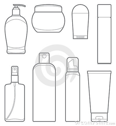 Bottles Of Cosmetic Products Royalty Free Stock Image