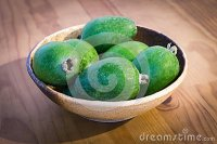 Bowl Of New Zealand Feijoa Fruit Stock Photo - Image: 69293412