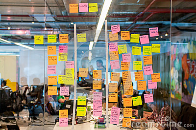 Brainstorm Board Post It Editorial Stock Photo  Image