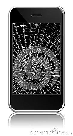 Broken Cellphone Stock Photography  Image 11040072