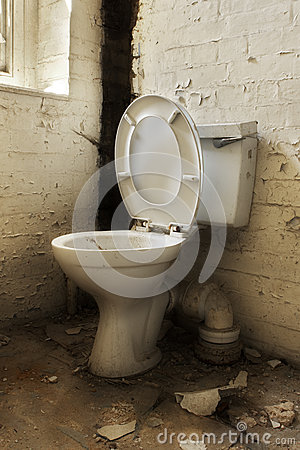 Broken Old Abandoned Toilet Stock Images  Image 25975614