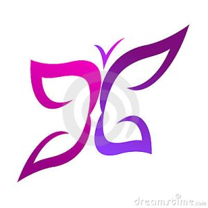 Butterfly Logo Royalty Free Stock Images  Image: 22613069