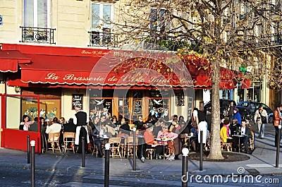 Cafe Scene In Paris Editorial Stock Image  Image 22070134